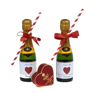 Miniature Personalised Champagne with Chocolates