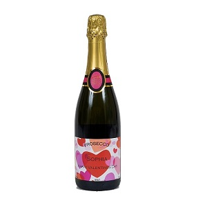 Valentines Personalised Prosecco