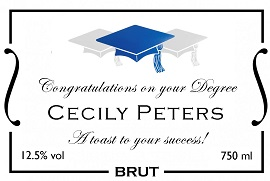 Personalised-graduation-champagne-label