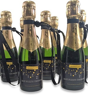 Personalised-Miniature-corporate-Champagne-bottles