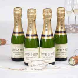 mini personalised champagne bottles
