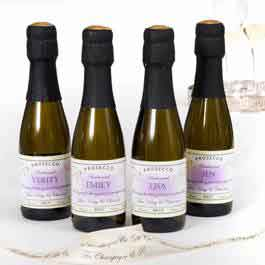 mini personalised proseccco bottles