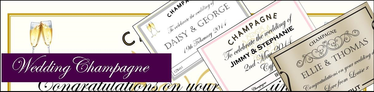 Personalised Champagne Label Examples