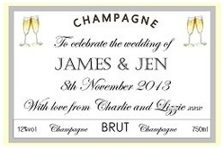 Personalised-Champagne-Wedding-Label
