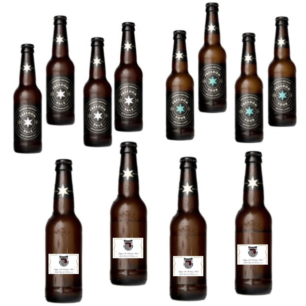 12 X Personalised Bottles Of Craft Beer - Helles Lager / Pale Ale...