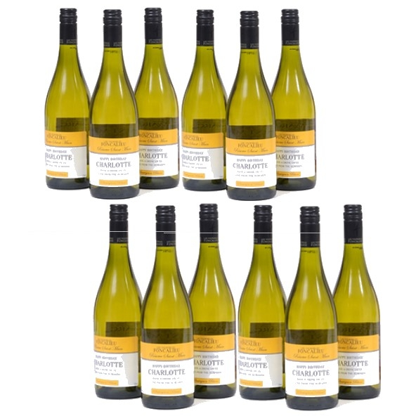 12 Bottles Of Personalised White Wine - South Of France