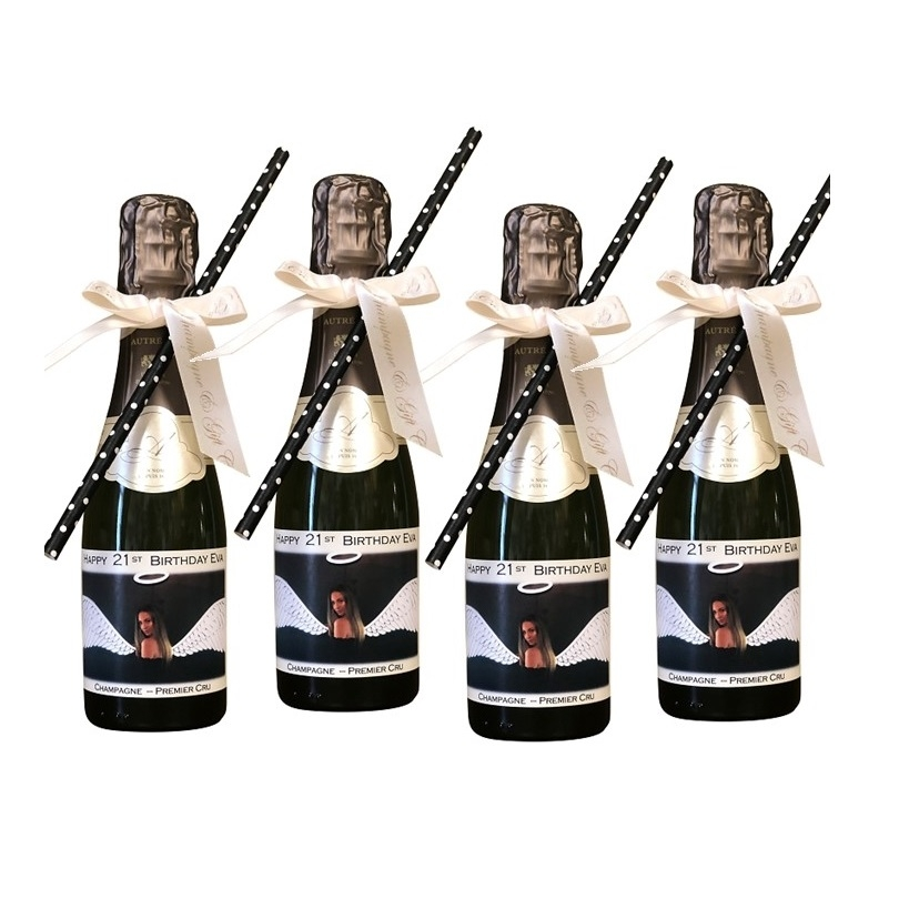 Miniature Personalised Champagne X 4 - (up To 96 Bottles)