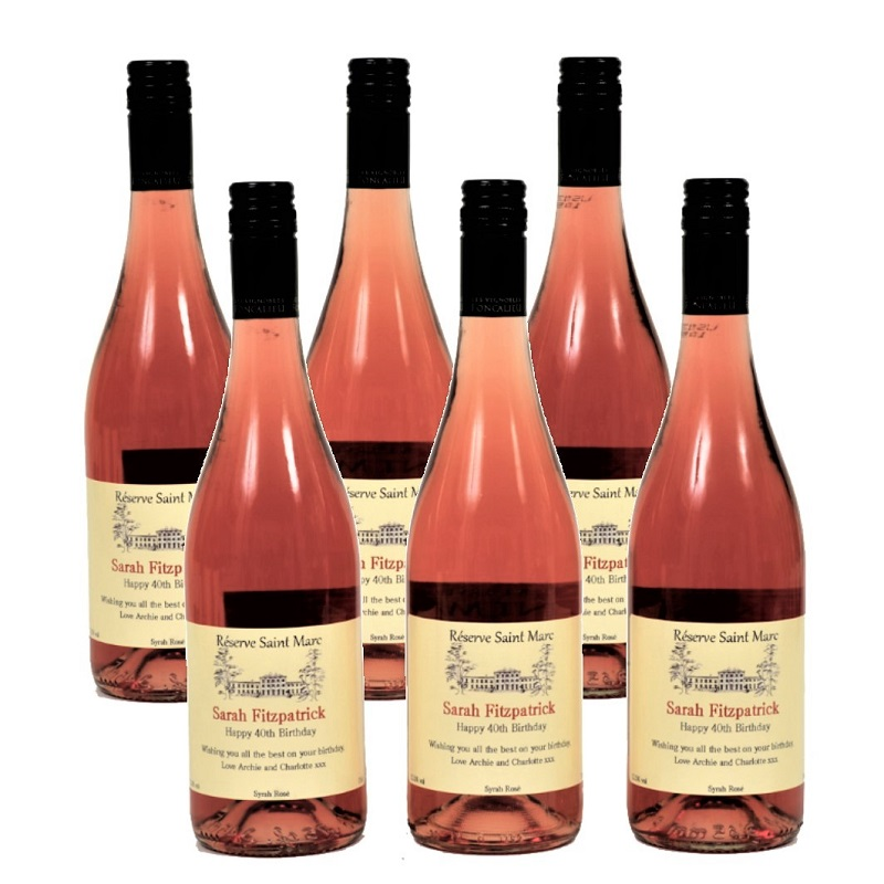 6 Bottles Of Personalised Rosé Wine - South Of France