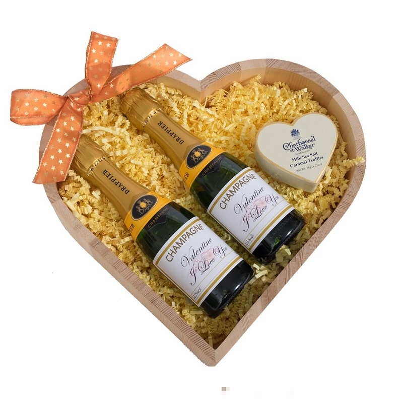 """""""Allegro""""  -  Duo Of Miniature Personalised Champagne - & Luxury..."""