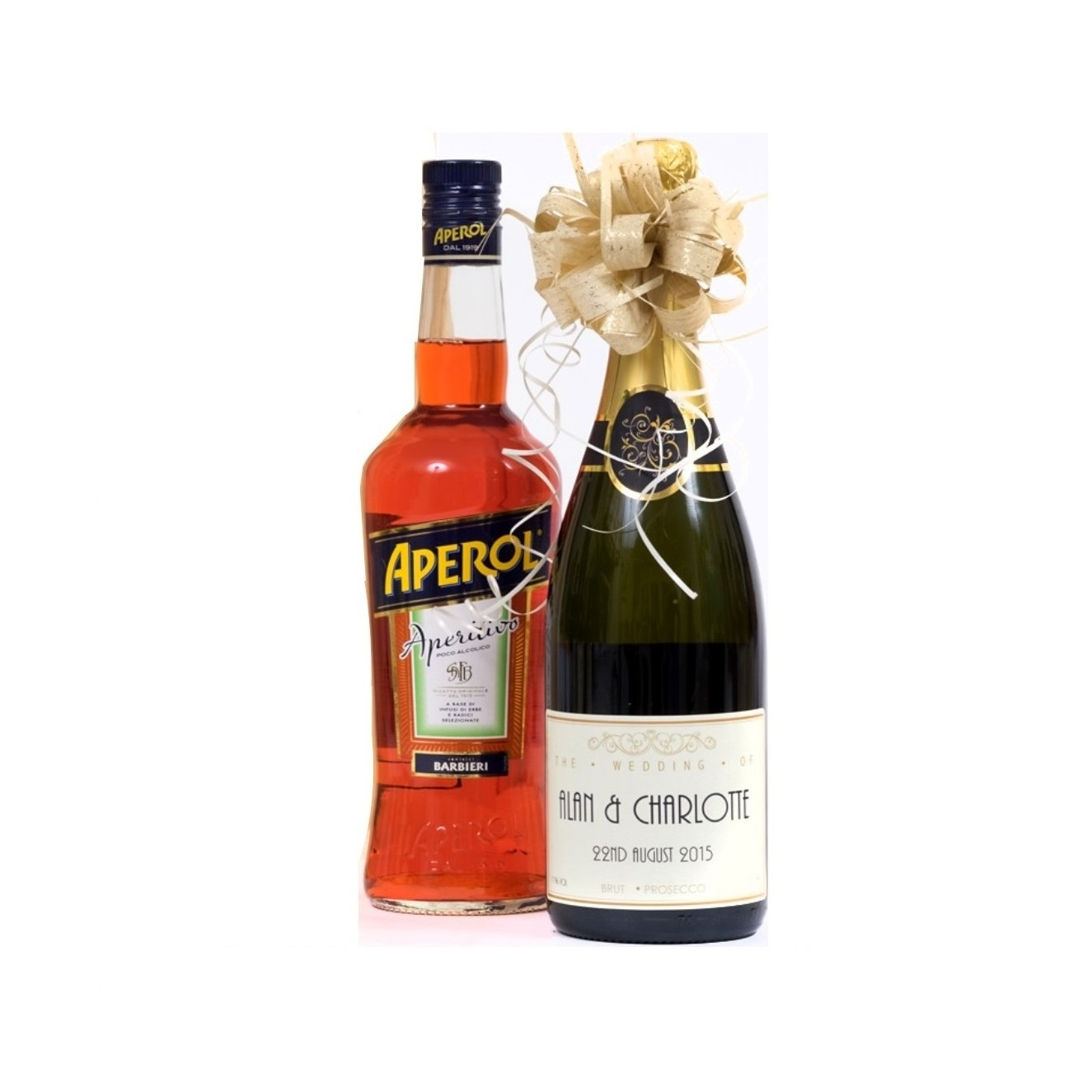 Personalised Prosecco & Aperol Spritz Bottle Set