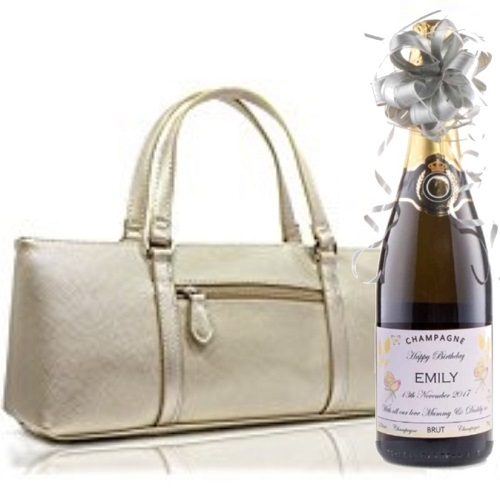 "Elegant ""Ascot"" Ladies Coolbag - Complete With A Champagne"