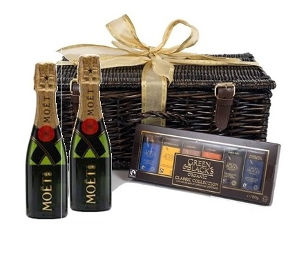 Miniature Moet Champagne & Chocolate Hamper