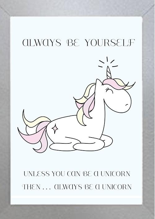 Inspirational Wall Art WA39 - Be A Unicorn
