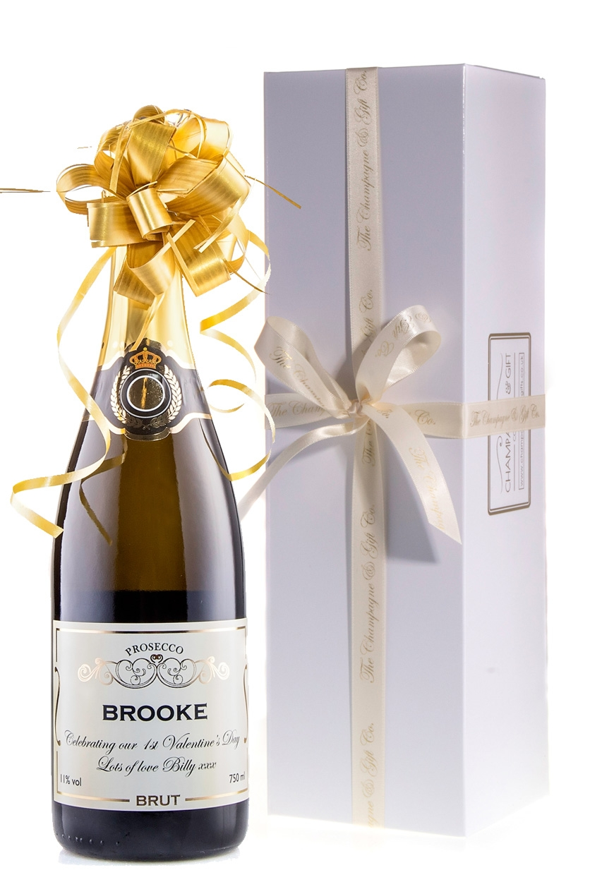 Personalised Prosecco In White Presentation Box