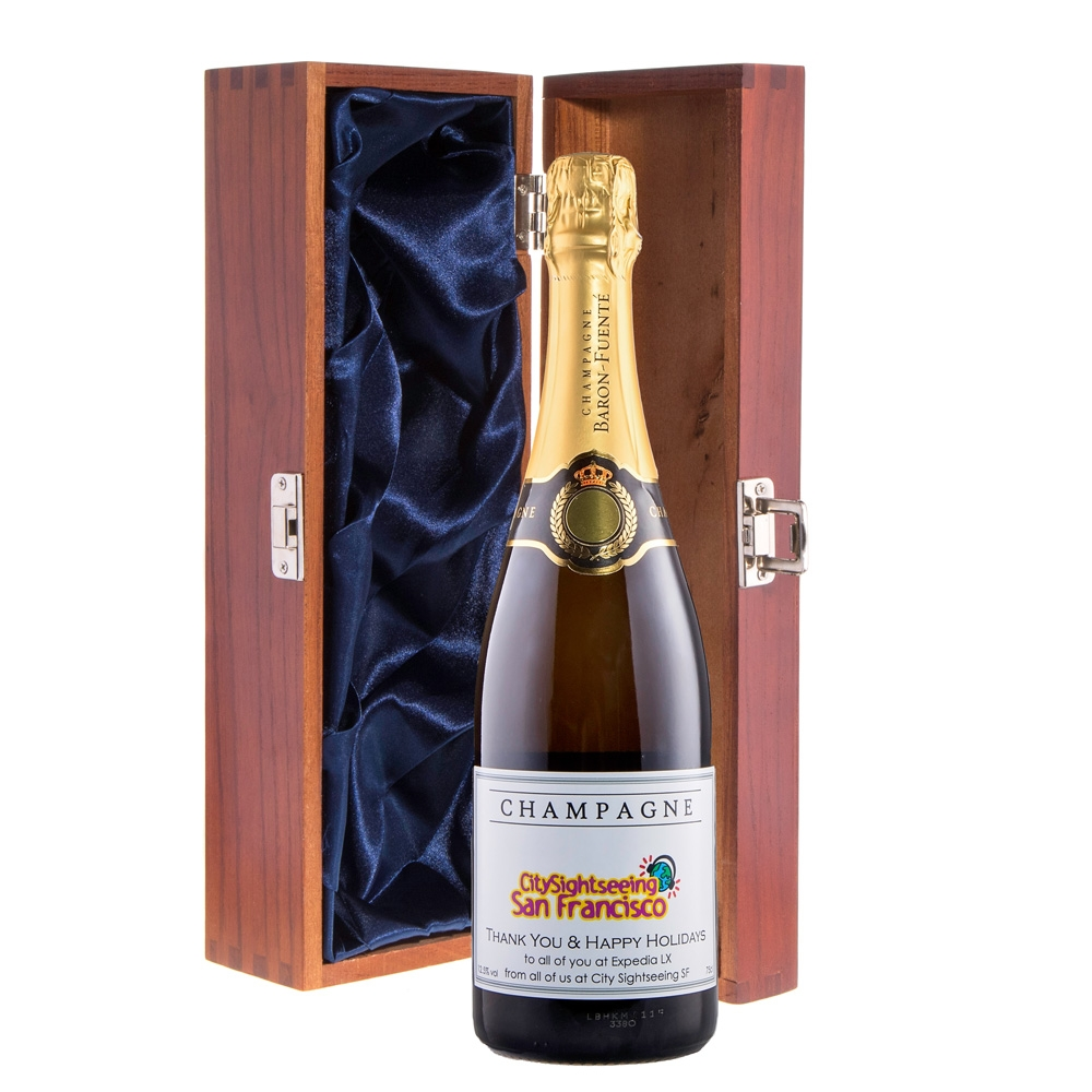 Corporate Branded Champagne In Cambridge Presentation Box