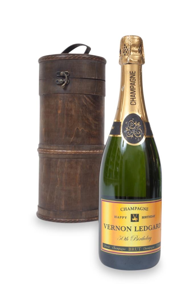 "The ""Trafalgar"" - Personalised Champagne In Vintage Holder"