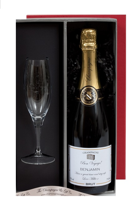 Personalised Champagne & Champagne Flute In Presentation Box