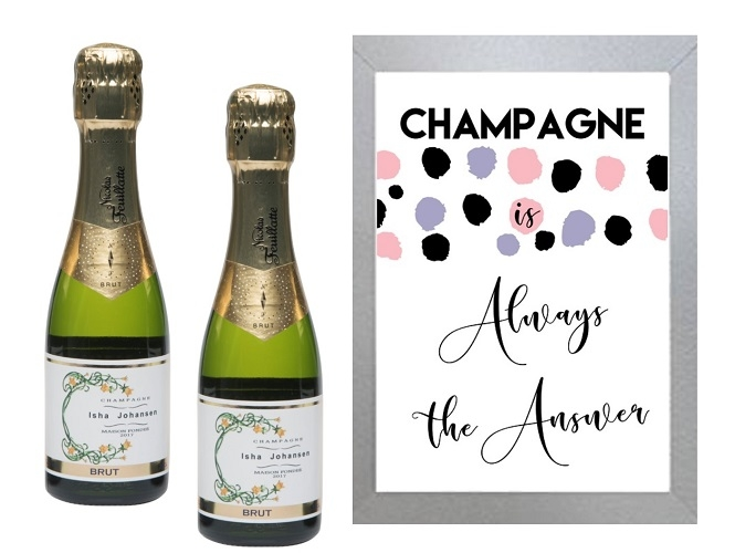 """Champagne Is Always The Answer"" - Inspirational Wall Art"