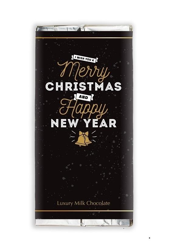 Luxury Belgian Milk Chocolate - Merry Christmas - Branded...