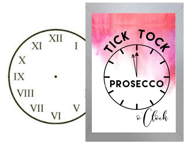 """It's Prosecco O'Clock"" - Inspirational Wall Art"