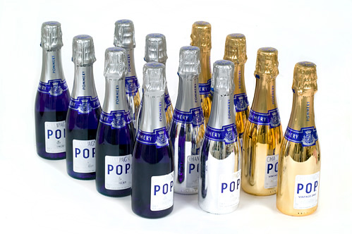 12 Bottles Of Assorted Pommery POP Mini Champagne - Personalised...