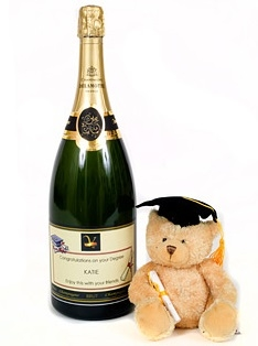 Classic Personalised Graduation - Champagne Magnum With...