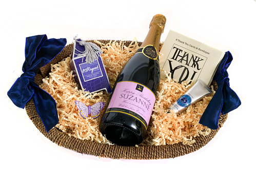 """Bella"" - Champagne And Scented Treats Hamper - Branded Corporate..."