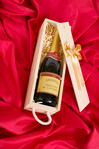 Christmas Gift - Prosecco In Wooden Presentation Box