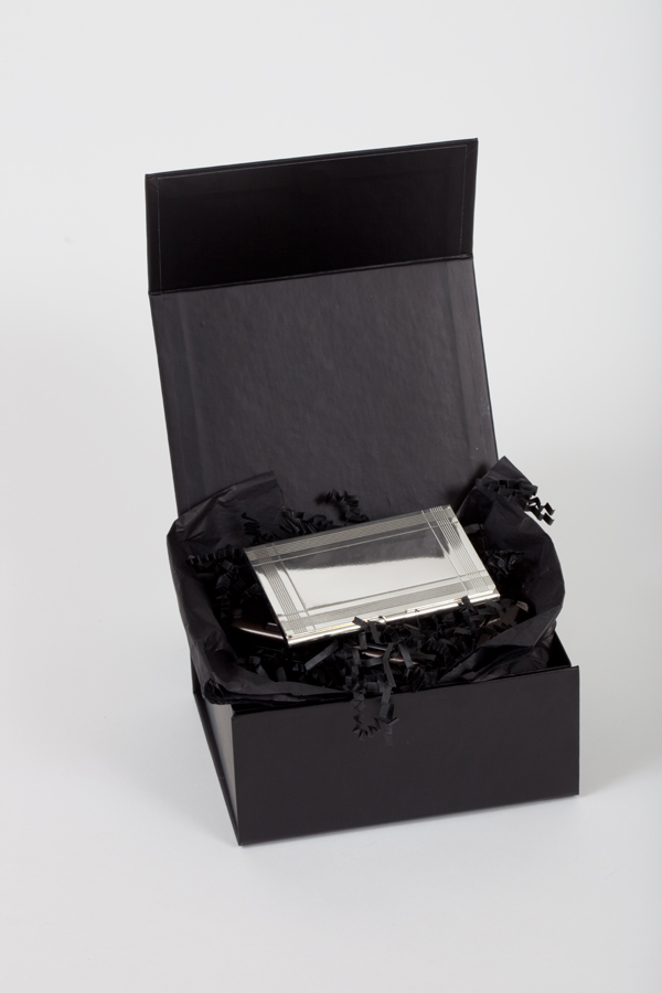 Corporate Gift Box With Silver Business Card Case