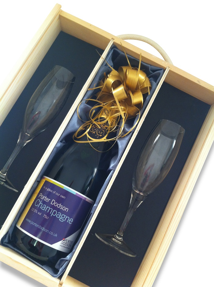 Personalised Champagne & Flute Gift Set