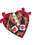 Miniature-personalised-prosecco-with-chocolates-in-red-heart-tray