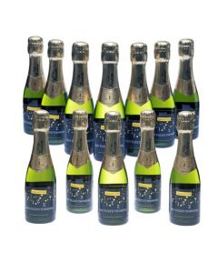 12 Mini 20cl Bottles of Personalised Champagne
