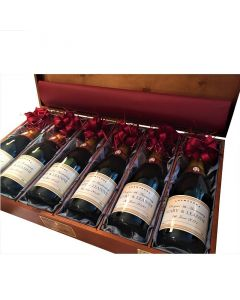 Luxury Corporate Branded Champagne Gift Set - Luxury Silk Lined Case of Six