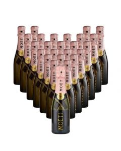 Case-of-Miniature-Moet-Rosé-Champagne-Bottles