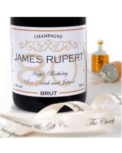 Personalised 80th Birthday Champagne