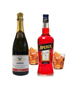 Personalised-christmas-prosecco-aperol-bottle-set