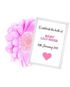 """""""Welcome New Baby Girl"""" - Personalised Wall Art"""