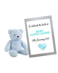 """""""Welcome New Baby Boy"""" - Personalised Wall Art"""