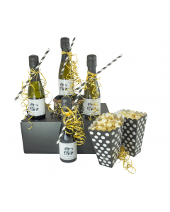 """""""Party Time"""" Popcorn Prosecco Gift Set - Black"""