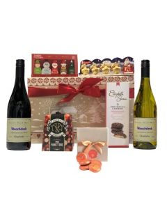 corporate-christmas-hamper-wine-and-treats