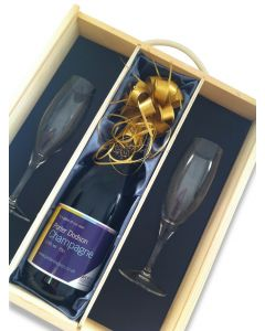 Corporate Branded Champagne & Flute Gift Set