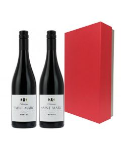 Duo-corporate-branded-red-wine-in-red-presentation-box
