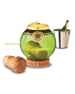 Bubbly Bauble - Champagne Cork Keepsake - Green