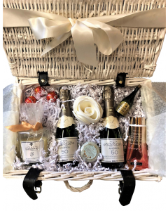 """My Moment to Relax""  Mini Champagne Pamper Hamper - Champagne, Candle, Bath Bubbles & Chocolate Truffles"