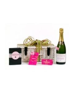 """Lizzie""  Champagne and Chocolates - & Little Book of Chocolate Hamper"