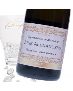 """Luxury Prosecco - """"Baby Pink"""" Label"""