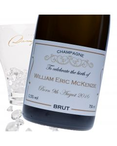 """Luxury Grande Reserve Champagne - """"New Baby Gold"""" Label"""