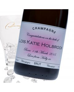 """Luxury Grande Reserve Champagne - """"Pink New Baby"""" Label"""