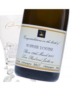 """Luxury Grande Reserve Champagne - """"Yellow Fade"""" New Baby Label"""
