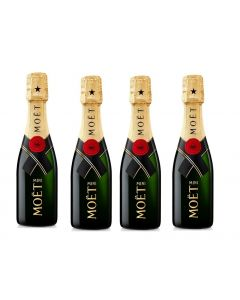Personalised Miniature Moet & Chandon Champagne (Minimum 4 Bottles)